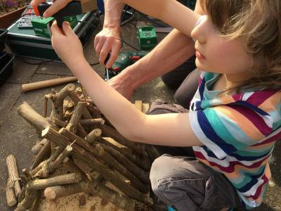 Fixing together the bug hotel branches and creating more bug holes